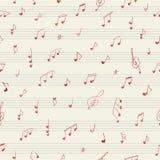 De musicusnota's van de hartvorm Naadloos patroon Royalty-vrije Stock Afbeeldingen