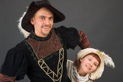 De musketier en zijn pagina Royalty-vrije Stock Afbeelding