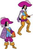 De musketier in twee stelt Stock Afbeeldingen