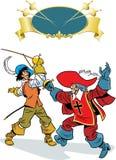 De musketiers vechten Stock Foto