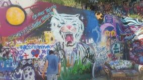 De muur in Austin Texas stock afbeeldingen