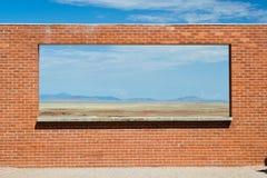 De muur in de woestijn Stock Foto