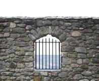 De muur en de staven van stenen Stock Afbeeldingen