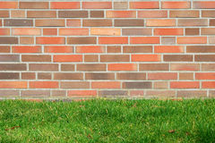De muur en het gras royalty-vrije stock fotografie