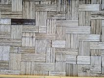 De muur maakte van bamboe abstracte achtergrond stock foto