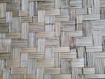 De muur maakte van bamboe abstracte achtergrond royalty-vrije stock afbeelding