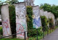 De Muur van Berlijn Stock Afbeeldingen