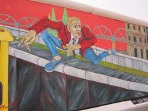 De Muur van Berlijn Stock Foto's