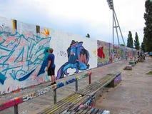 De muur van Berlijn, Duitsland Stock Fotografie