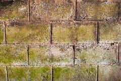 De muur van Bricked Stock Afbeeldingen