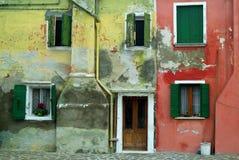 De muur van Burano Royalty-vrije Stock Afbeelding