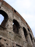 De Muur van Colosseum, Rome Italië Stock Foto