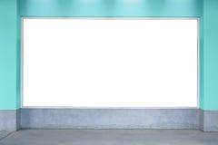 De muur van de aanplakbordtextuur, witte raad, ruimte, tekst, foto Stock Fotografie