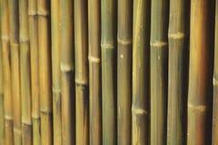De muur van de bamboeomheining selectieve nadruk als achtergrond Royalty-vrije Stock Afbeelding