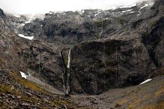 De muur van de berg in Nationaal Park Fiordlands Royalty-vrije Stock Afbeelding