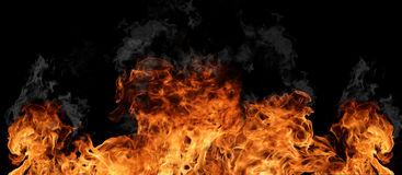 De muur van de brand stock fotografie