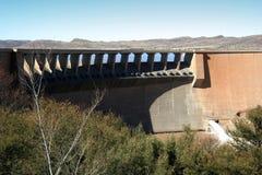 De Muur van de dam Stock Foto