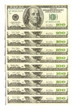 De muur van de dollar royalty-vrije stock afbeelding