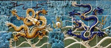 De muur van de draak stock afbeelding