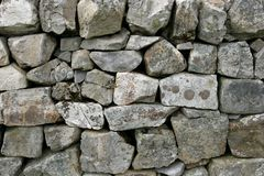 De Muur van de droge Steen Royalty-vrije Stock Foto