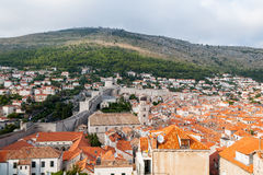 De muur van de Dubrovnikstad, Kroatië Royalty-vrije Stock Foto
