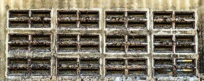 De muur van de gatenlucht Stock Afbeeldingen