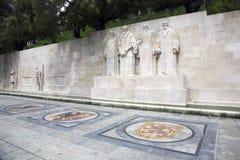 De muur van de hervorming in Genève Stock Foto