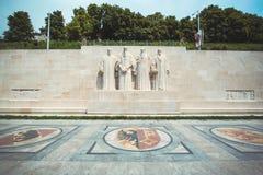 De muur van de hervorming in Genève stock afbeeldingen