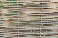 De muur van de hut van geweven wijnstok vertakt zich Royalty-vrije Stock Foto