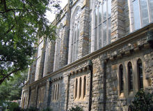 De muur van de kerk Stock Afbeeldingen