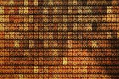 De muur van de kleitegel Stock Afbeelding