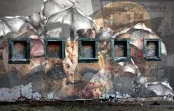De Muur van de knuppel Stock Foto's
