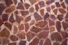 De muur van de metselwerksteen met rood kalksteen Royalty-vrije Stock Foto's