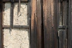 De muur van de modder Stock Foto's