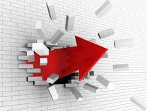 De muur van de onderbreking Stock Afbeelding