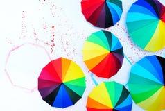 De muur van de paraplu Stock Afbeeldingen