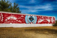De Muur van de plakstad Royalty-vrije Stock Fotografie