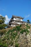 De Muur van de rots en het Kasteel van Himeji Stock Afbeeldingen