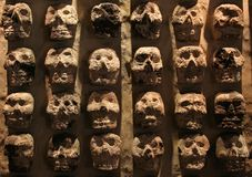 De Muur van de schedel Royalty-vrije Stock Foto