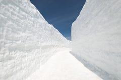 De muur van de sneeuw Royalty-vrije Stock Afbeeldingen