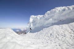 De muur van de sneeuw Stock Foto's