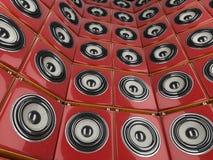 De muur van de spreker Royalty-vrije Stock Foto's