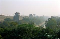 DE MUUR VAN DE STAD VAN CHINA XIAN (XI'AN) Stock Foto