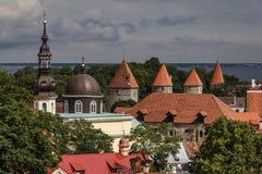 De Muur van de Stad van Tallinn Royalty-vrije Stock Afbeeldingen