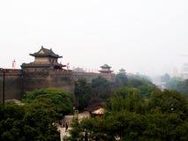 De muur van de stad van xian Royalty-vrije Stock Afbeeldingen