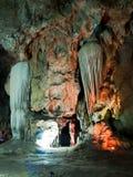 De muur van de stalactiet Royalty-vrije Stock Foto's