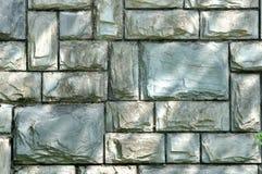 De muur van de steen in cyaankleur Stock Afbeeldingen