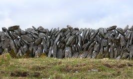De muur van de steen in Ierland Stock Foto's