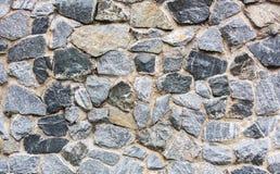 De muur van de steen met cement Stock Afbeelding