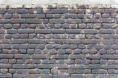 De muur van de steen met cement Stock Foto